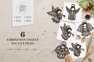 Christmas Angels SVG Cut Files