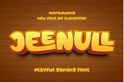 Jeenull Playful Display Font