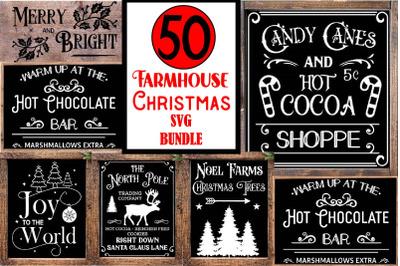 Christmas Svg, Farmhouse Svg, Farmhouse Christmas Sign Bundle