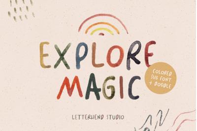 Explore Magic - Colored SVG Font