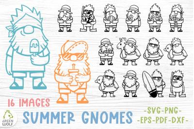 Beach svg bundle Beach gnomes bundle Summer svg bundle Gnome svg