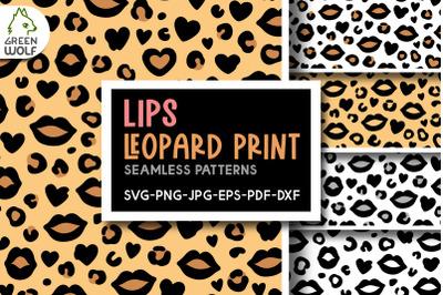 Lips leopard print svg Leopard pattern svg Lips svg Love pattern svg