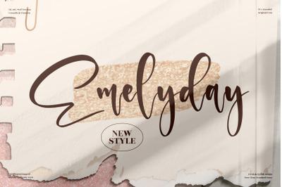 Emelyday  Beautiful Handwritten Font