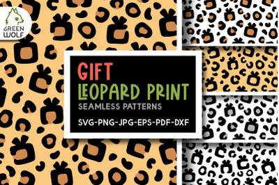 Christmas leopard print svg Christmas patterns svg Gift box svg