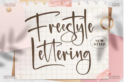 Freestyle Lettering  Beautiful Handwritten Font