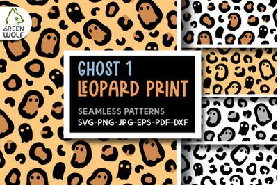 Halloween leopard print svg bundle Ghost svg Halloween patterns svg