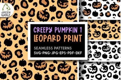 Halloween pumpkin leopard print svg Halloween svg bundle Creepy svg