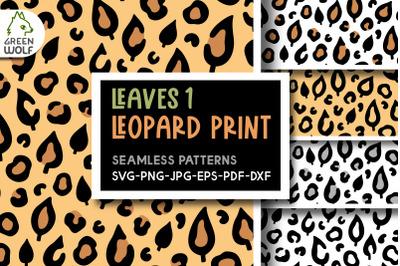 Fall leopard print svg Fall leaves svg bundle Fall patterns bundle