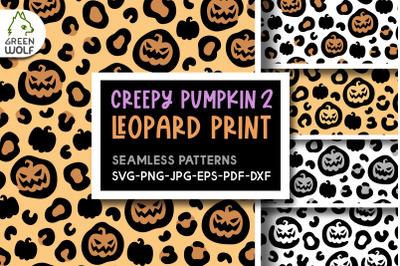 Pumpkin leopard print svg Halloween patterns Halloween svg bundle