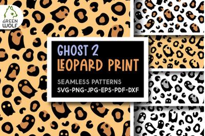 Ghost leopard print svg bundle Ghost svg Halloween pattern svg dxf