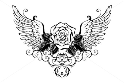 Rose with Wings
