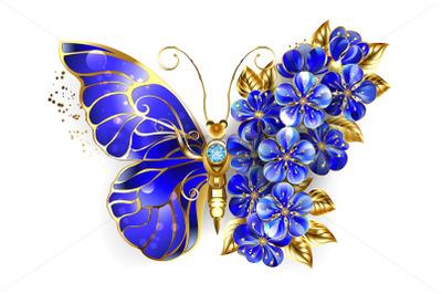 Flower Sapphire Butterfly