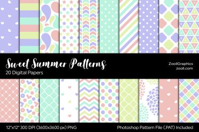 Sweet Summer Digital Papers