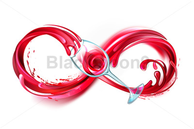 Infinity with Red Wine