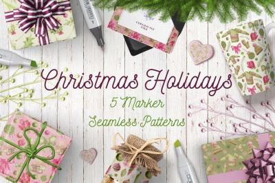 Christmas Holidays Marker Patterns