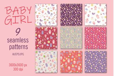BABY GIRL - Digital paper