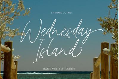 Wednesday Island - Chic Handwritten Font