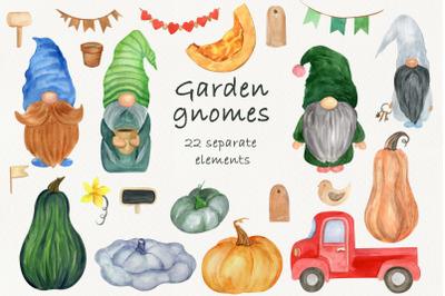 Garden gnome clipart, Fall gnomes, Pumpkin clipart