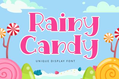 Rainy Candy - Christmas Font