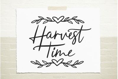 Harvest time svg cut file