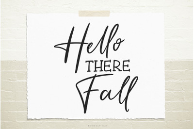 Hello there fall svg cut file