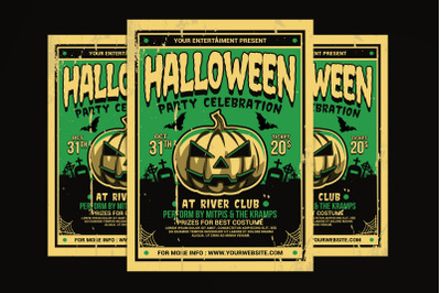 Halloween Party Flyer Retro