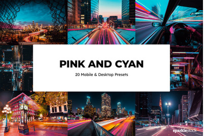 20  Pink and Cyan LR Presets