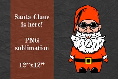 Gnome Santa Claus, Cool Biker Gnome, sublimation