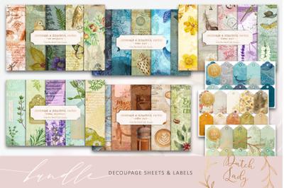 Decoupage Bundle - Sheets & Labels