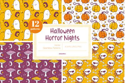 Halloween Horror Nights Vector Patterns