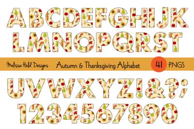 Autumn & Thanksgiving Digital Alphabet