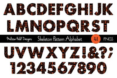 Halloween Skeleton  Alphabet
