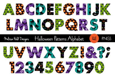 Halloween Patterns  Alphabet