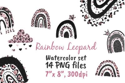 Rainbow Leopard Png Rose Gold Glitter