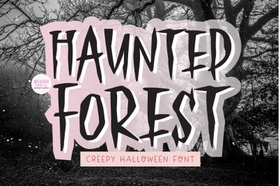 HAUNTED FOREST Creepy Halloween Font