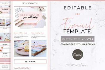 Canva & Mailchimp Template   Blush