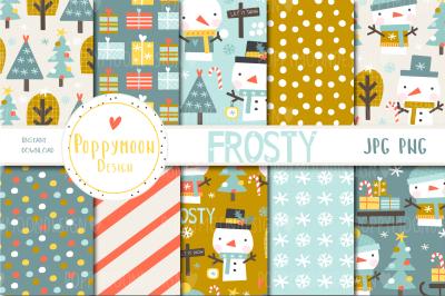 Frosty, snowmen paper set