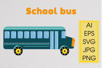 School bus SVG File