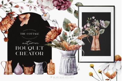 Autumn Bouquet Creator DIY Watercolor PNG