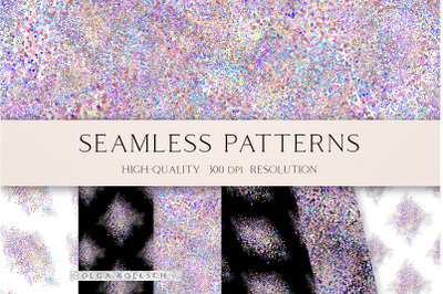 Glitter holographic digital paper, Metallic textures seamless pattern