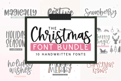 Christmas Font Bundle | 10 Fonts for Crafters