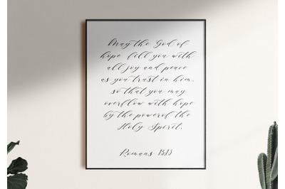 Bible Verse Printable, Romans 15:13