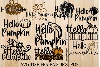 Hello Pumpkin Svg, Fall T-shirt Design, Autumn Svg