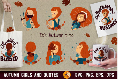 Girls and quotes. Autumn time