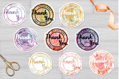 Business stickers bundle png, jpg. Printable 9 designs
