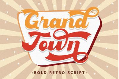 Grandtown - Bold Retro Script