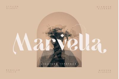 Marvella | Ligature Typeface