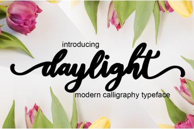 daylight script font
