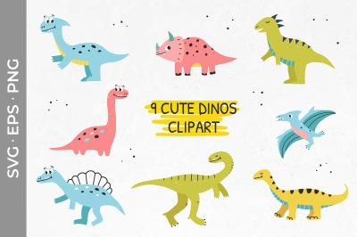 Cute dinos clipart Dinosaur babies Dino svg