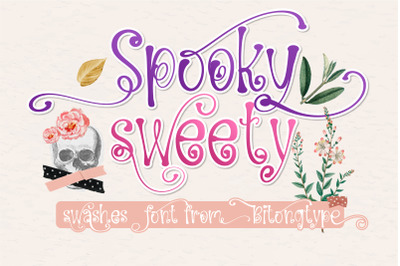 Spooky Sweety - A handwritten swashes font